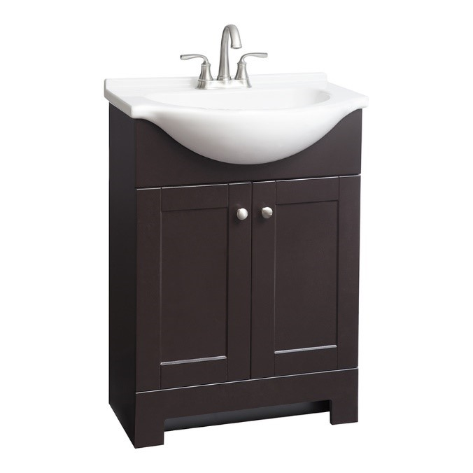 Awe Inspiring Style Selections Euro Espresso Integral Single Sink Bathroom Beutiful Home Inspiration Xortanetmahrainfo